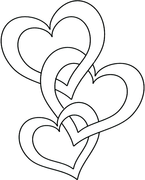 500x620 Valentine Heart Coloring Pages Or Valentine Hearts And Swirls