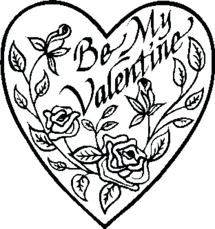 700x747 Valentine Hearts Coloring Pages Educational Coloring Pages