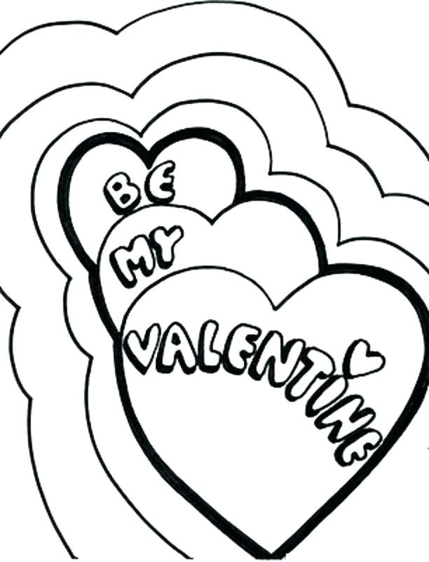 612x800 Valentine Hearts To Color Valentine Color Sheets As Well As Be My