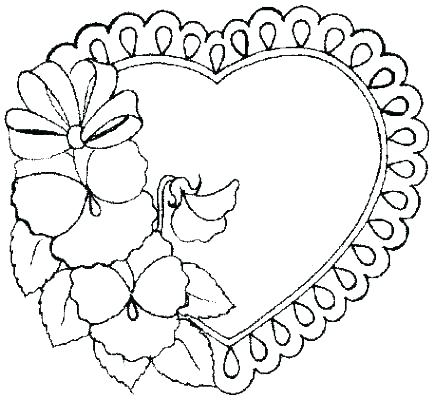 435x400 Valentines Heart Coloring Pages Coloring Ideas Pro