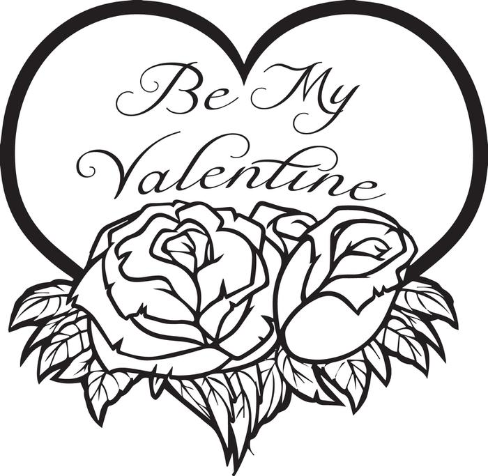700x683 Coloring Pages And Coloring Books Valentine Coloring Pages