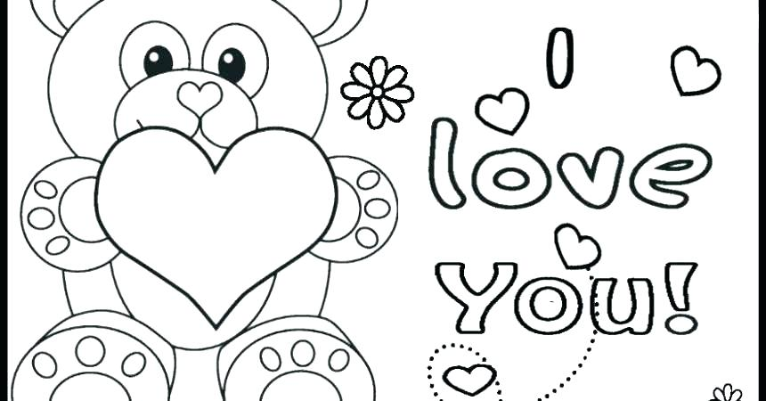 860x450 Happy Valentines Day Hearts Coloring Pages For Kids My Type