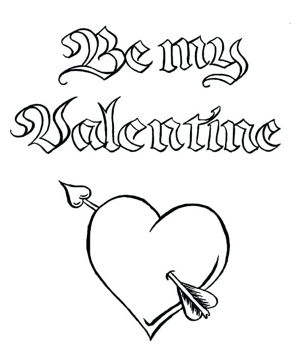 600x734 Valentines Day Online Coloring Pages Valentines Day Coloring Pages