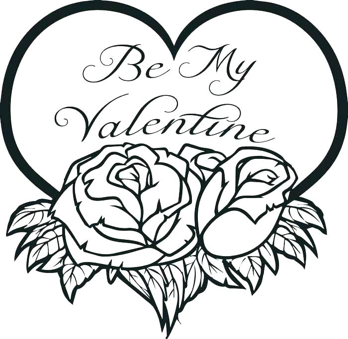 700x683 Heart Coloring Page Valentines Day Printable Coloring Pages