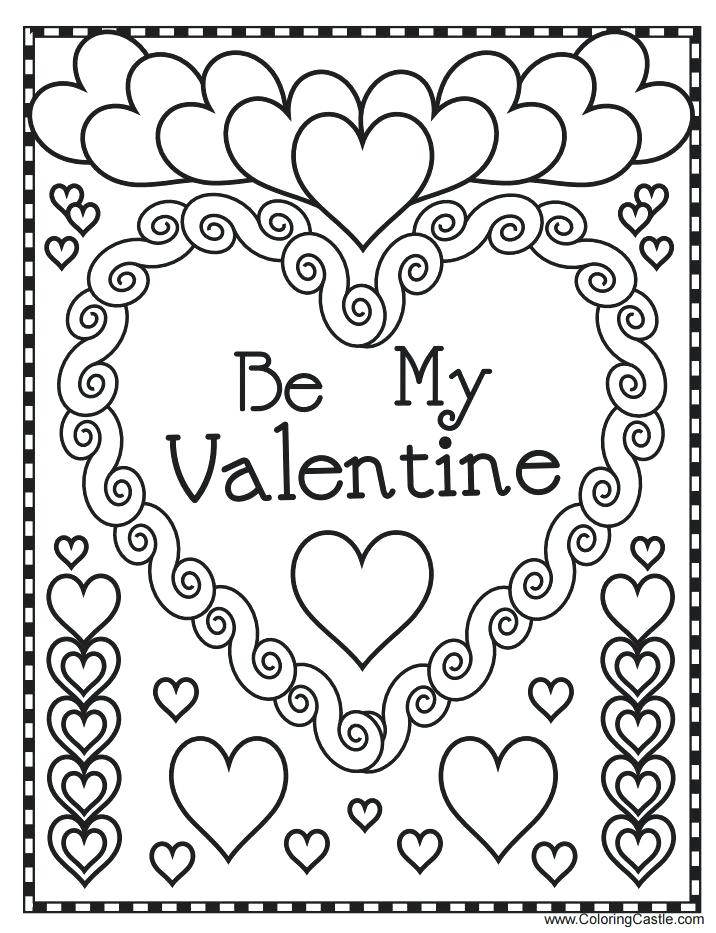 716x933 Valentines Day Coloring Book Valentines Day Coloring Pages Free