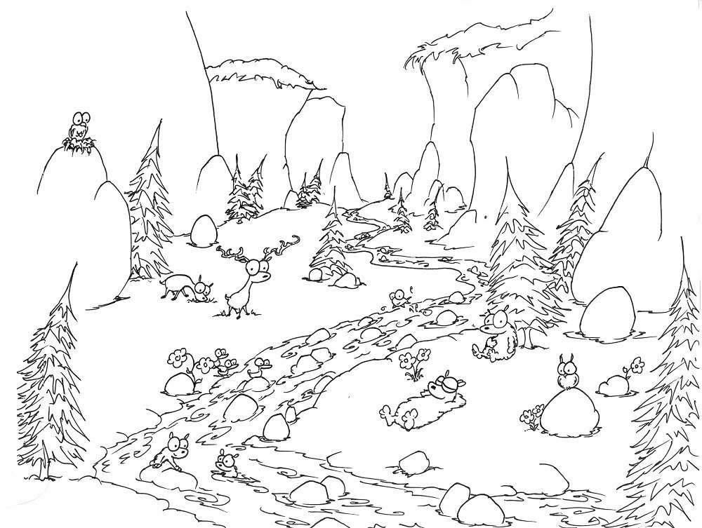 1000x753 Coloring Page Bears In Yosemite