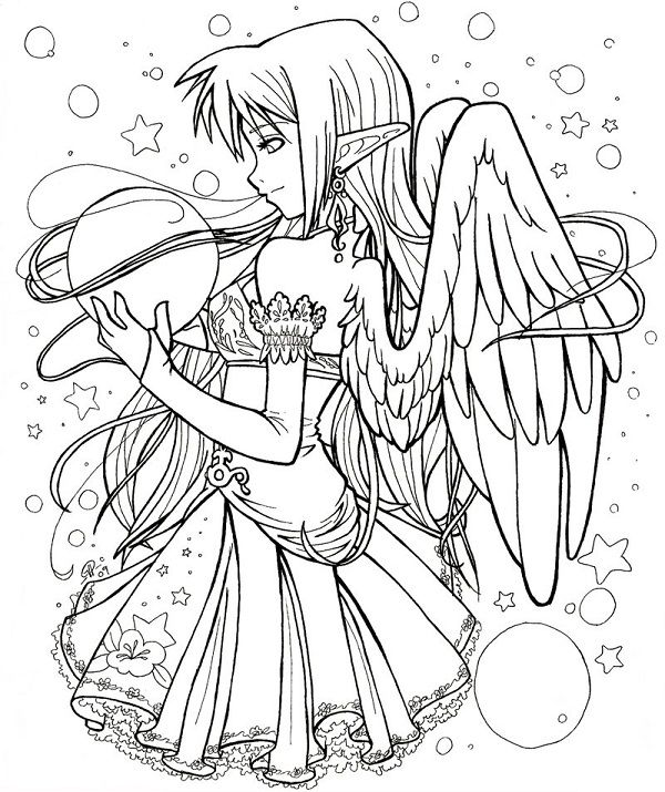 600x715 Anime Vampire Coloring Pages Coloring Pages Anime