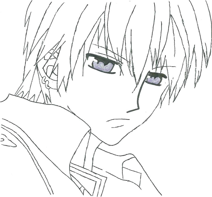 900x835 Vampire Knight Coloring Pages Vampire Knight Coloring Pages