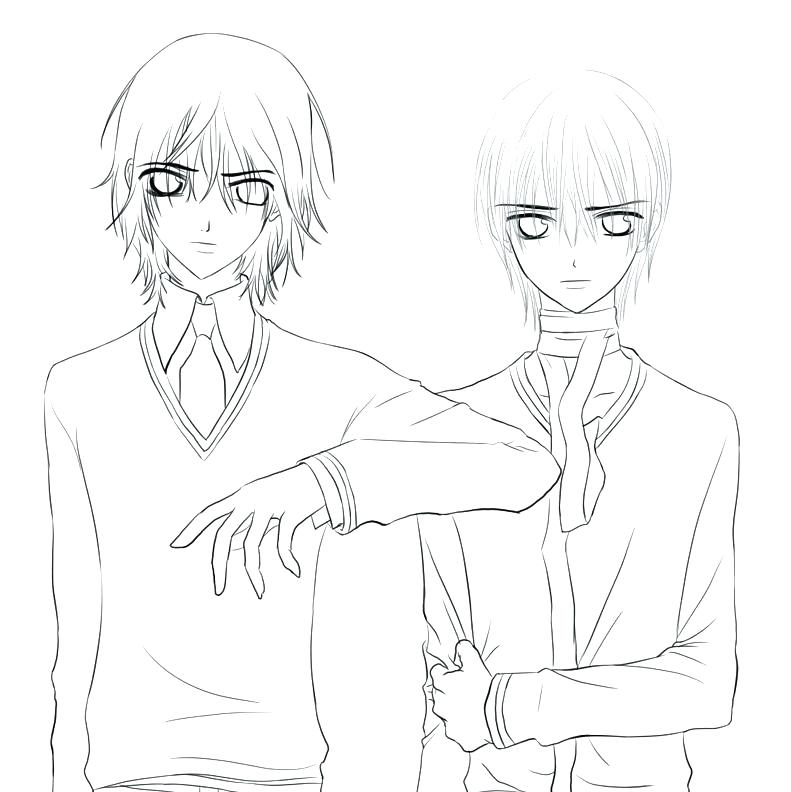 791x792 Vampire Knight Coloring Pages Vampire Knight Coloring Pages Anime