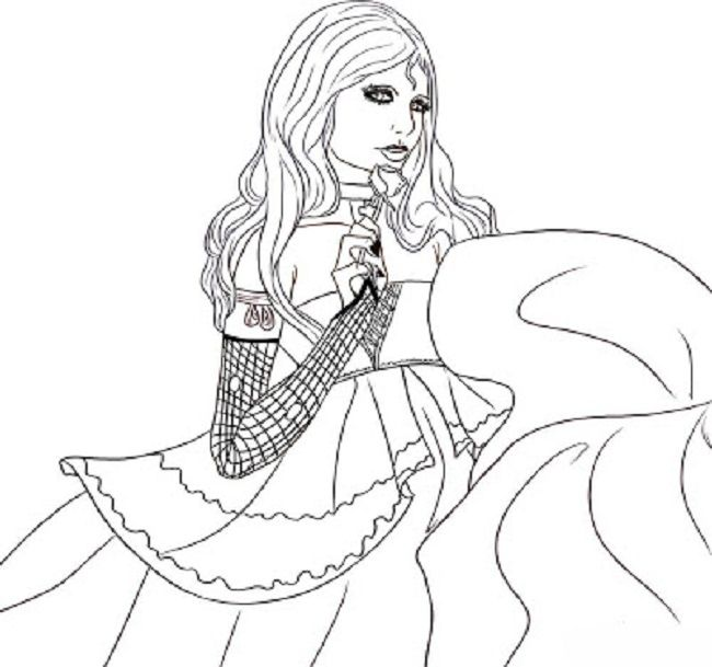 650x609 Coloring Pages Girls Vampires Coloring Pages