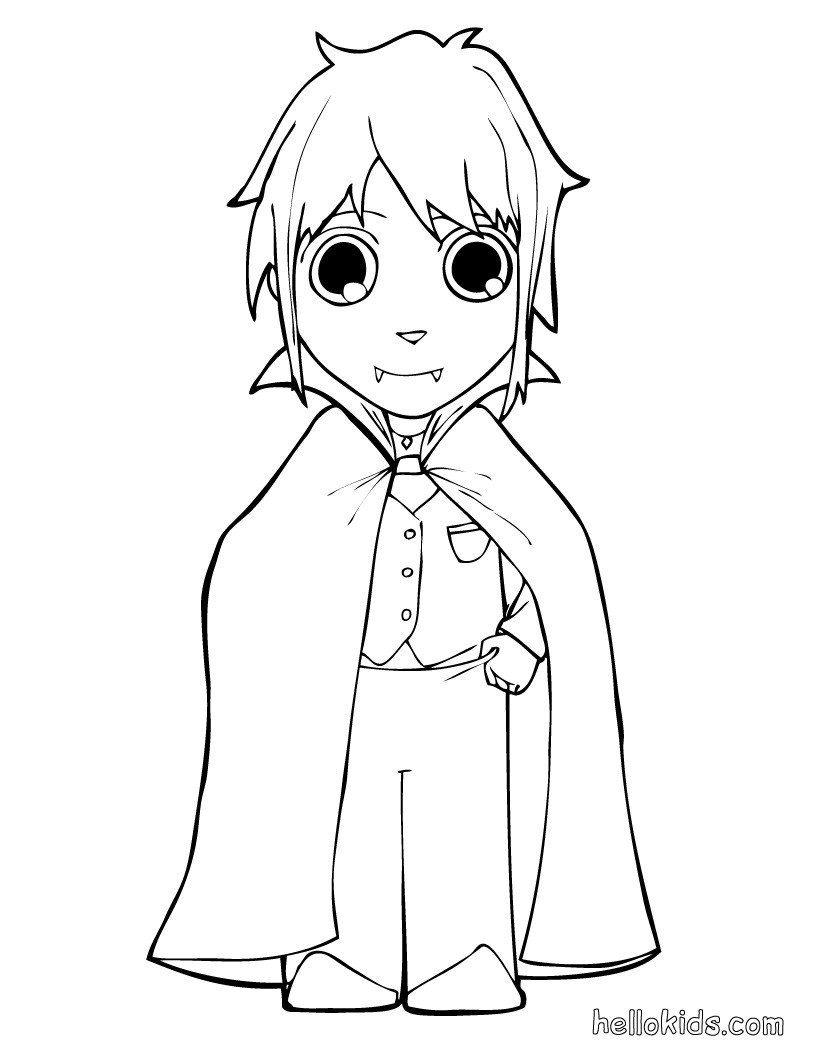 820x1060 Vampire Coloring Pages
