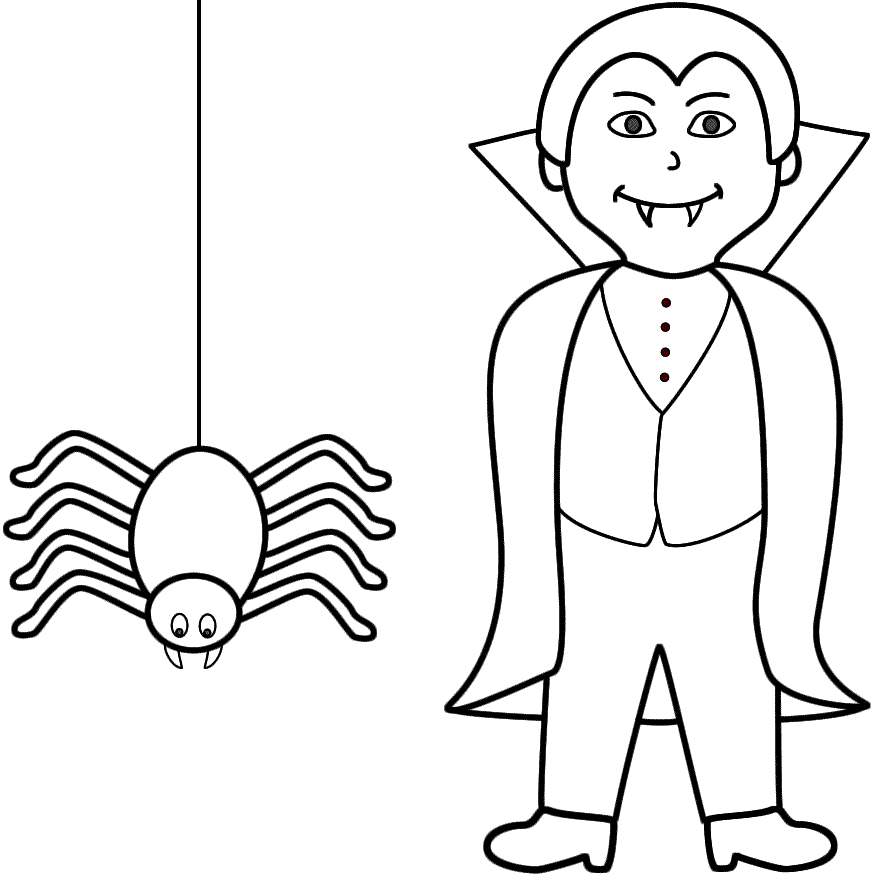 884x885 Halloween Vampire Coloring Pages Vampire Coloring Page Many