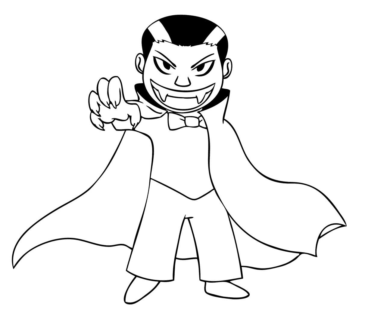 1222x1071 Cartoon Vampire Coloring Pages