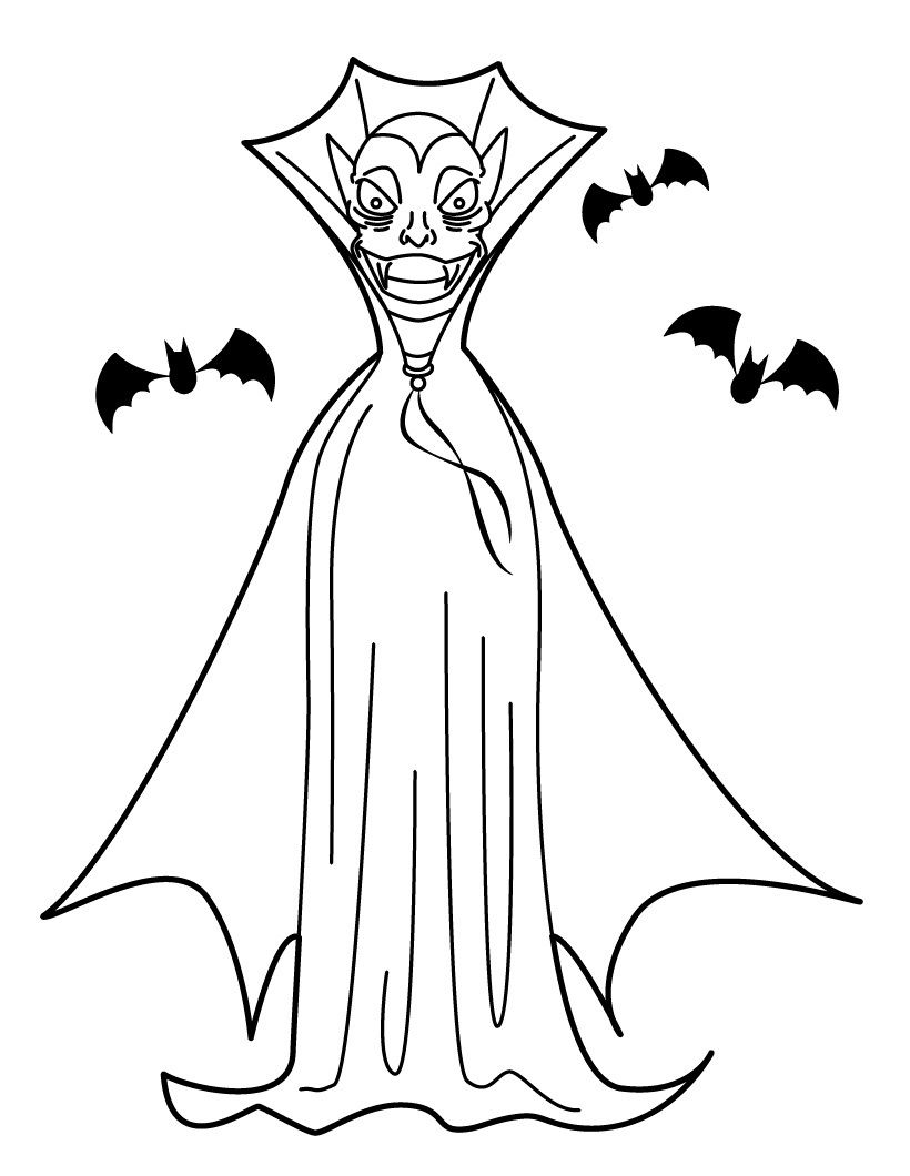 820x1060 Free Printable Vampire Coloring Pages For Kids