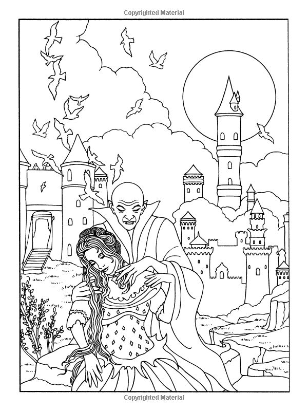 600x800 Coloring Pages Vampires Many Interesting Cliparts