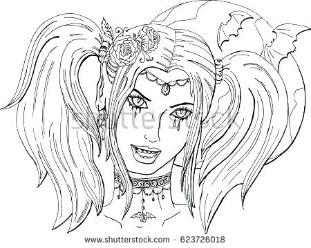 450x359 Girl Vampire Coloring Pages Top Rated Vampire Coloring Pages