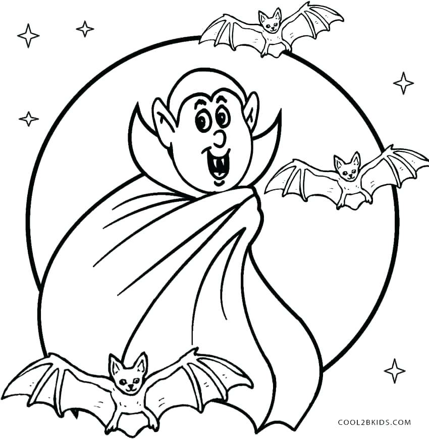 850x870 Pumpkin Coloring Pages Scary Coloring Sheets Vampire Coloring