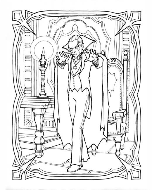 520x650 Adult Vampire Coloring Pages Monster Coloring Book I