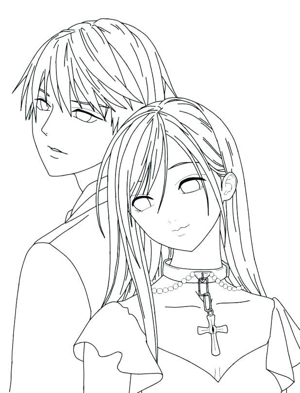 618x809 Vampire Knight Coloring Pages Printable Vampire Knight Coloring