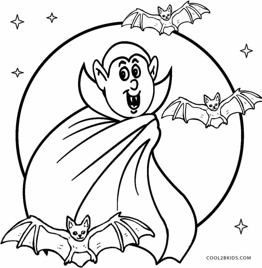 850x870 Vampire Coloring Sheet