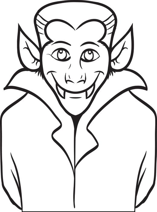 520x700 Halloween Dracula Vampire Coloring Pages