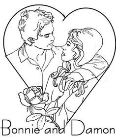 Vampire Diaries Coloring Pages At Getdrawings Com Free For