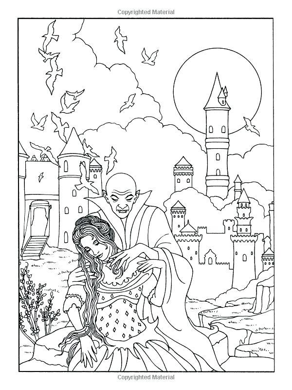 600x800 Vampire Coloring Pages Vampire Coloring Page Vampire Diaries