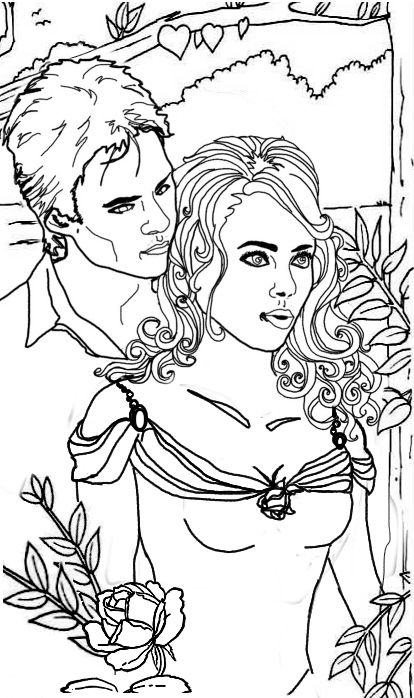 414x698 Vampire Diaries Coloring Pages Kyrsten Vogts Adult
