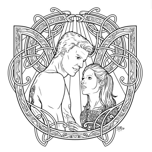 600x600 Buffy The Vampire Slayer Adult Coloring Book Profile Dark