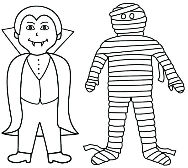 600x536 Vampire Diaries Coloring Pages Online Vampire Coloring Pages Mummy