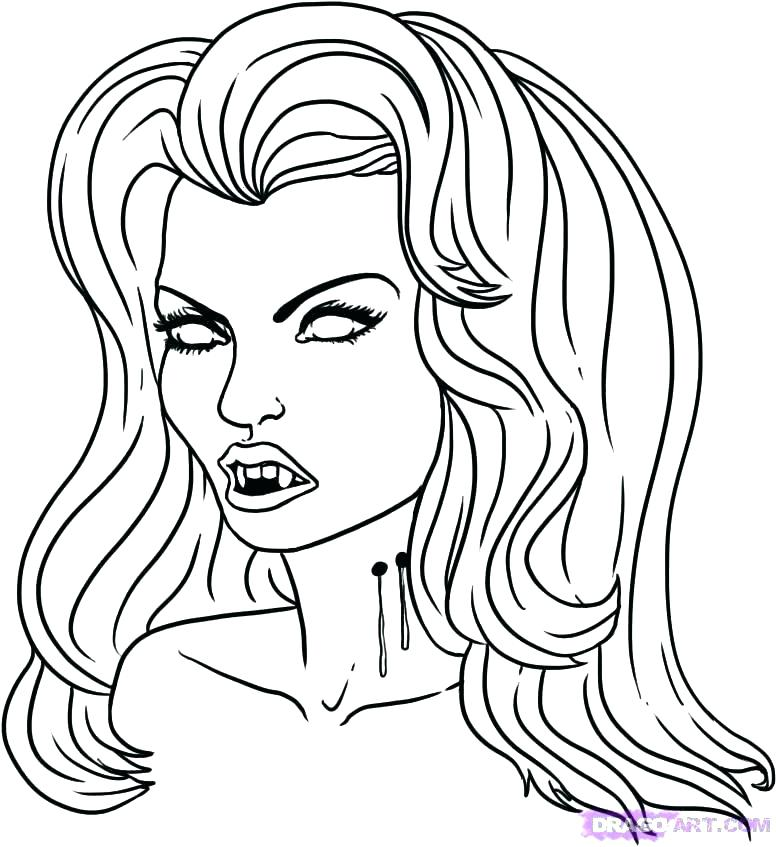 776x847 Vampire Coloring Pages