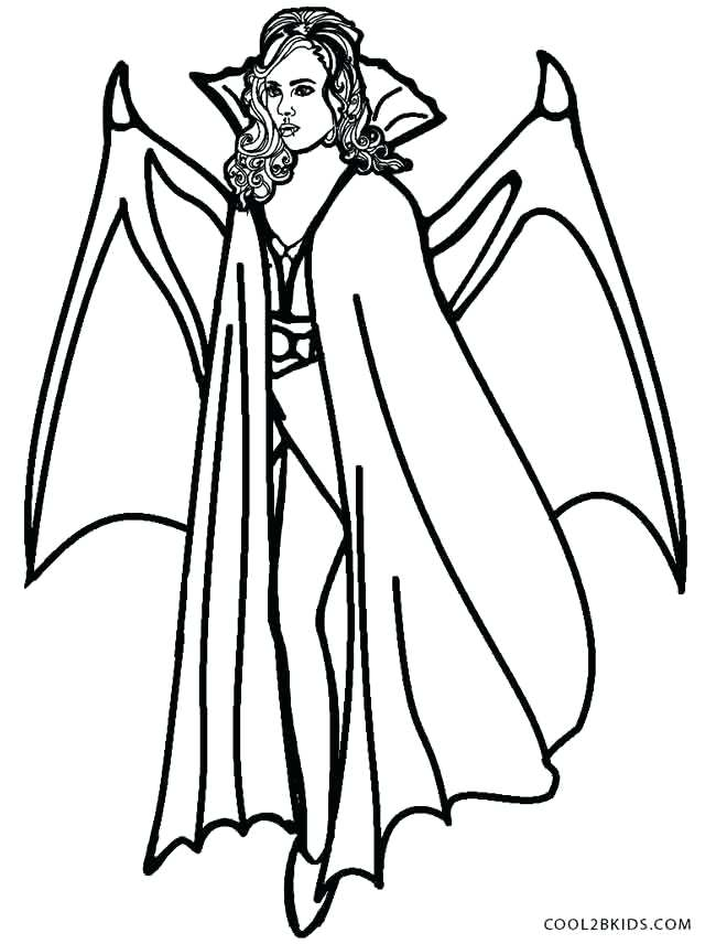 650x856 Girl Vampire Coloring Pages Vampire Coloring Pages Girl Vampire
