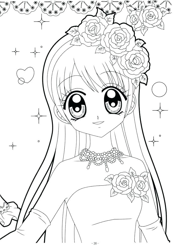 687x978 Anime Girl Coloring Page Girl Coloring Sheets Together With Girl