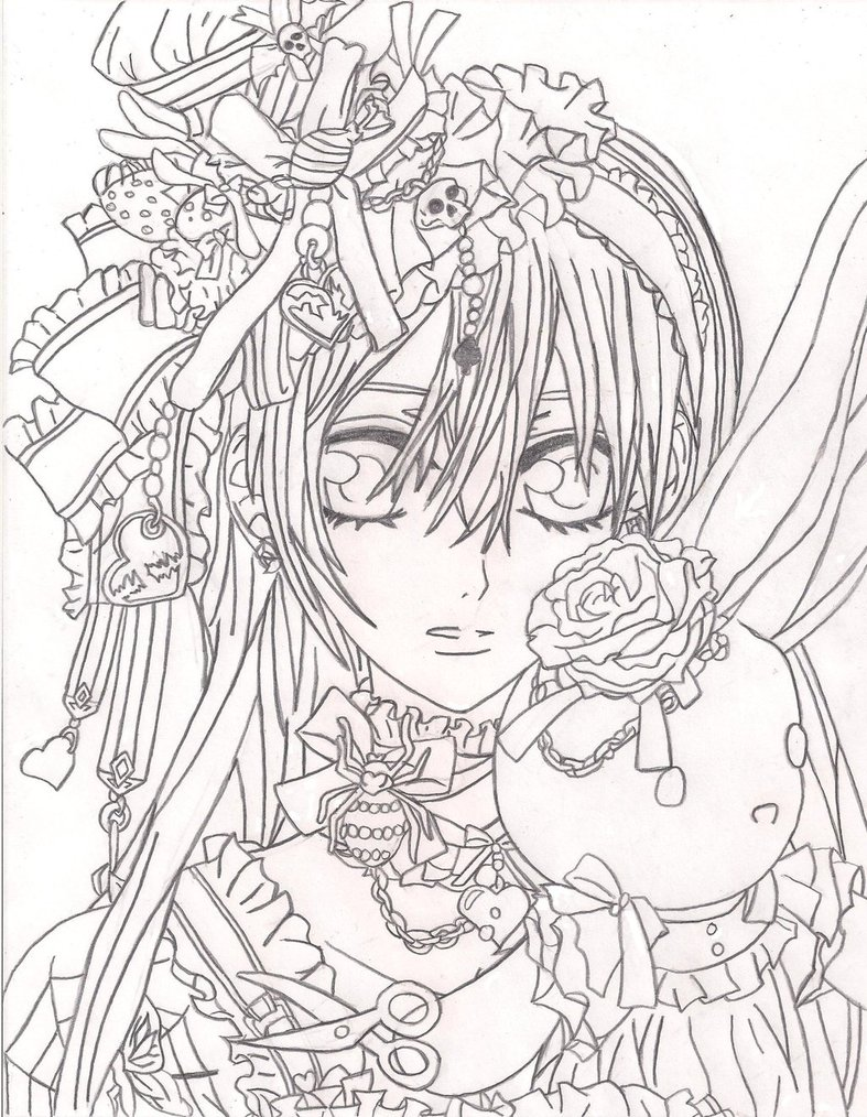 787x1014 Print Rosario Vampire Coloring Pages New On Property Free Coloring