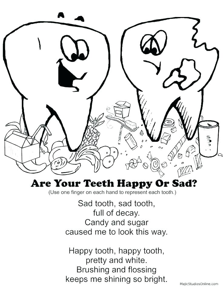 736x952 Teeth Coloring Page Hygiene Coloring Pages Tooth Coloring Page