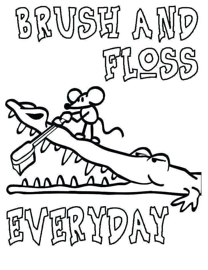 728x945 Brushing Teeth Coloring Page