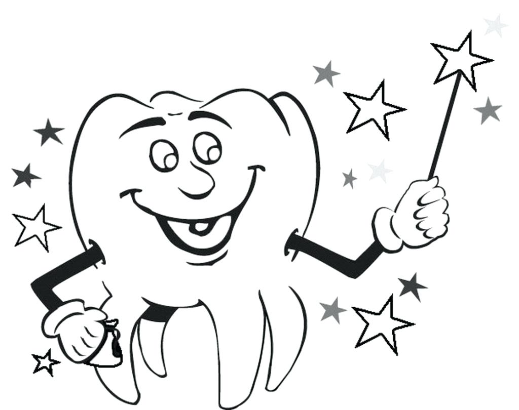 1024x810 Teeth Coloring Pages For Kindergarten Vector Of A Cartoon Rushed