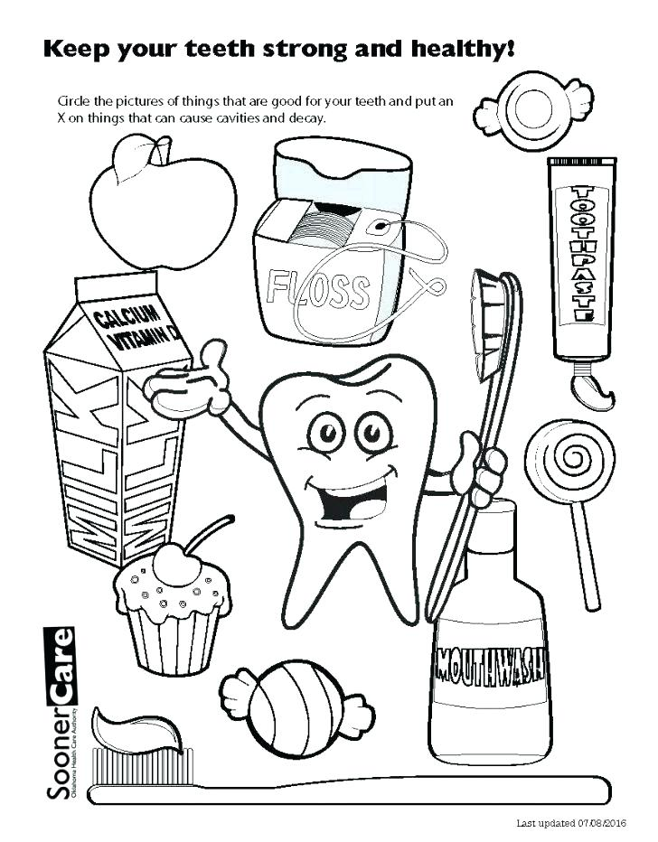 728x932 Tooth Coloring Page For Dental Coloring Pages Printable Dental