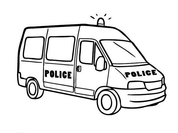 600x448 Police Car Van Type Coloring Page Color Luna
