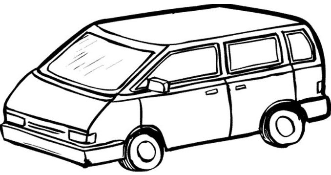 678x358 Coloring Pages Van Van Transportation Printable Coloring Pages