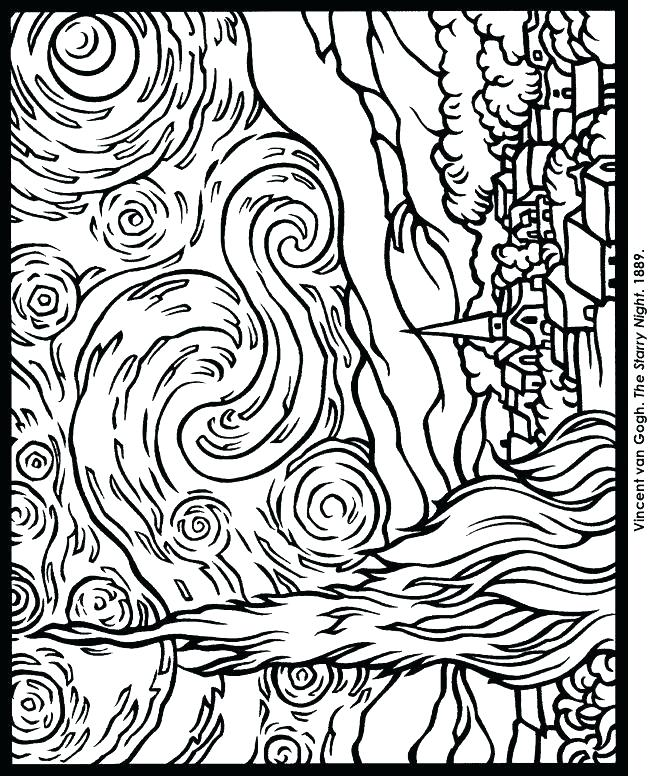 650x776 Van Gogh Sunflowers Coloring Page Perfect Van Coloring Pages Fee