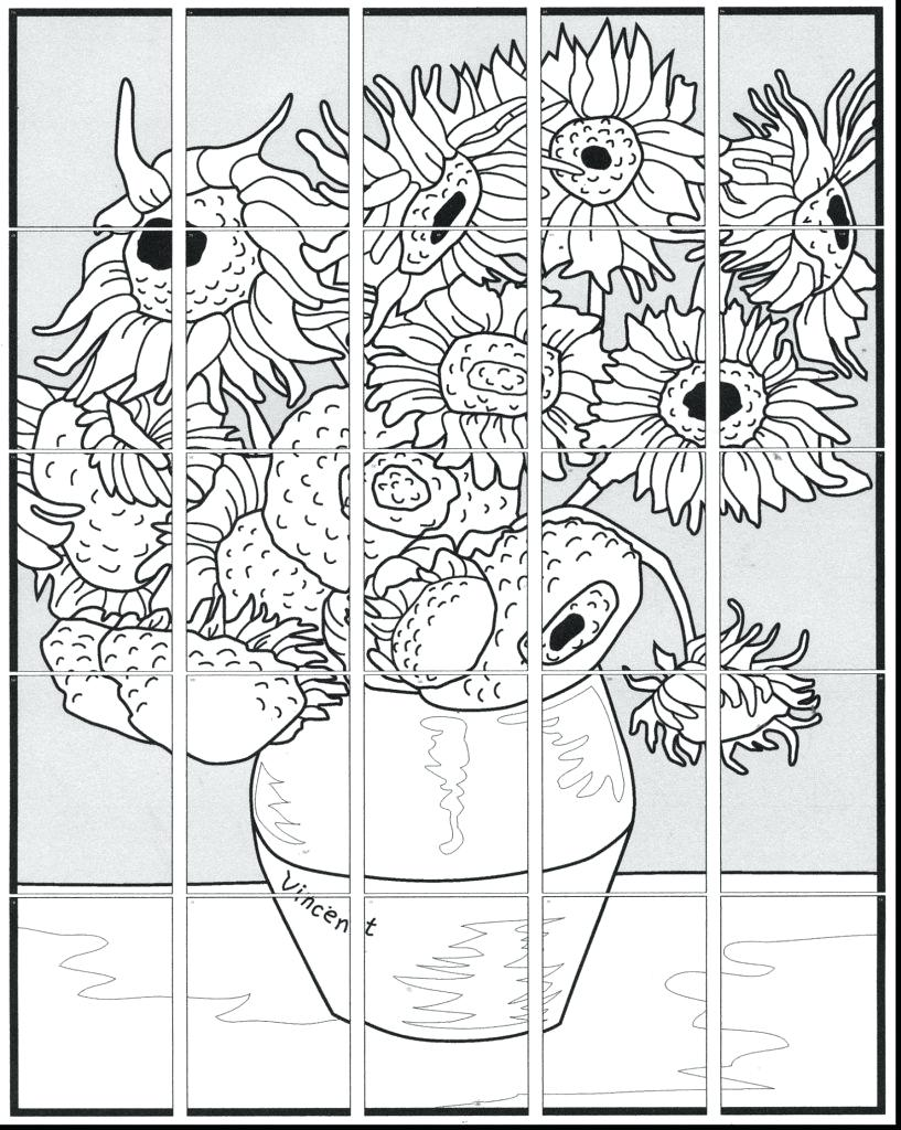 817x1024 Vincent Van Gogh Coloring Pages