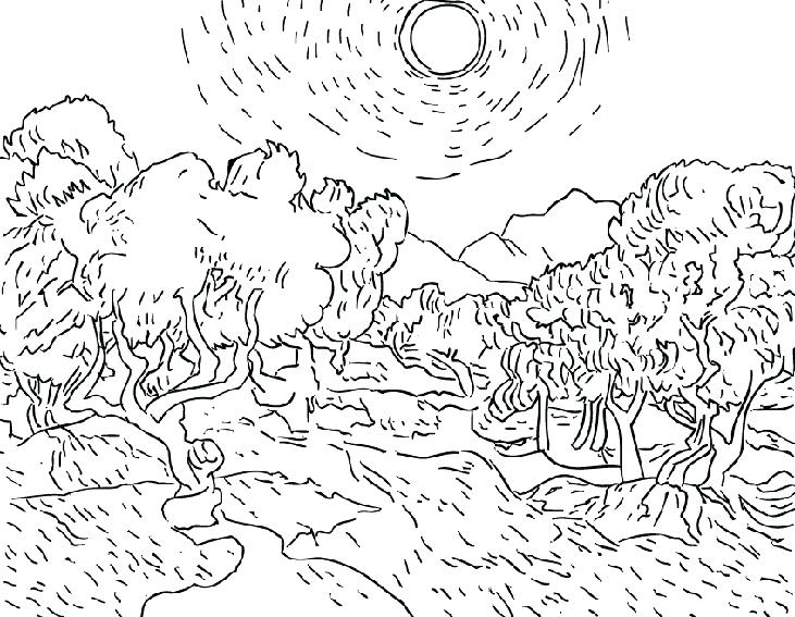 731x567 Vincent Van Gogh Coloring Pages Sunflower Coloring Page Van