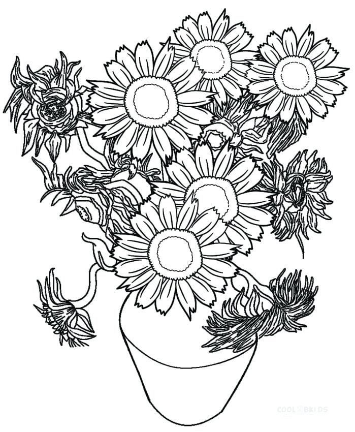 699x850 Sunflower Coloring Pages Sunflower Coloring Page Printable