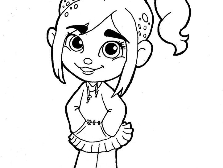 723x544 Race Coloring Pages For Kids Printable Free Wreck It Ralph General