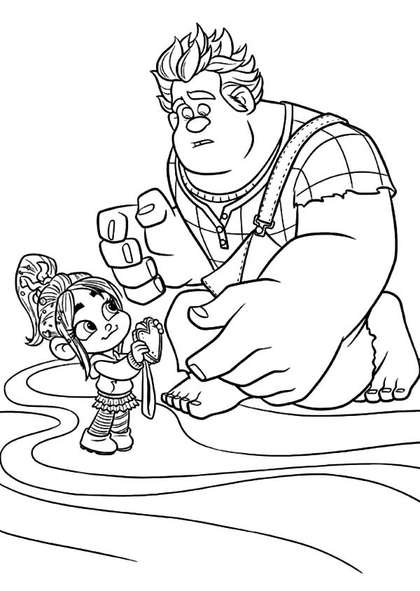 600x844 Vanellope Offer Her Medal To Wreck It Ralph Coloring Pages Batch