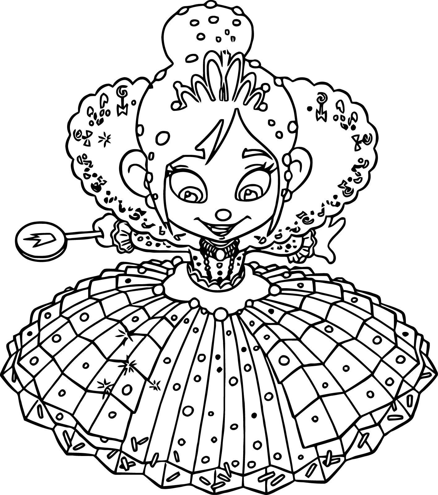1416x1599 Vanellope Von Schweetz Princess Coloring Page