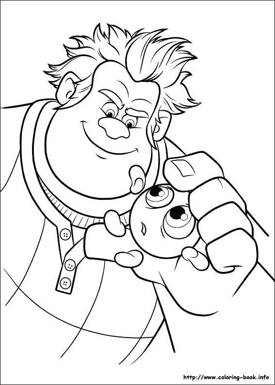 567x794 Wreck It Ralph Coloring Pages Wreck It Coloring Pages Wreck It