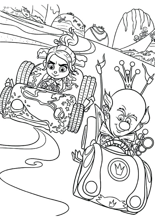 600x844 Wreck It Ralph Vanellope Coloring Pages And More Of These Coloring
