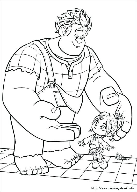 567x794 Wreck It Ralph Vanellope Coloring Pages Coloring Pages Wreck It